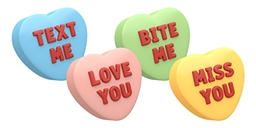 Spinningleaf Candy Hearts Sandwich Cookie Molds